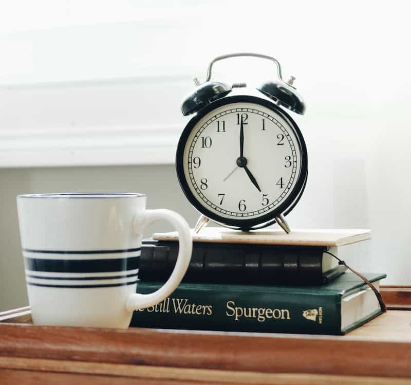 tips to reduce stress - gentle alarm