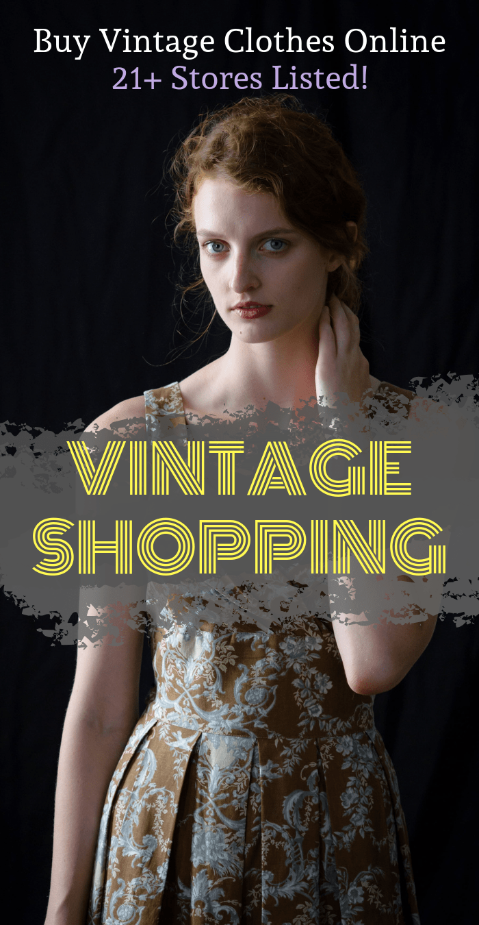Wondered where you can get 80s vintage clothing online? Or where you can go vintage shopping for 90s clothing? Check out this list of vintage clothing stores online - that sell curated unique vintage clothing, including vintage dresses, trousers, jackets, accessories, and anything else you can think of! It's vintage, darling! #vintage #thrift #secondhand #fashion #retro #clothing