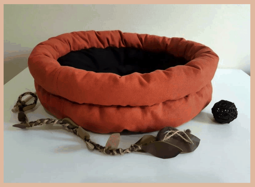 canvas cat bed