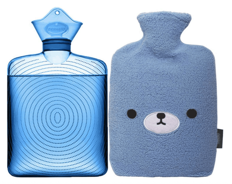 keep a hot water bottle in bed to provide more warmth