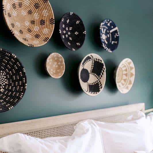 Hand-woven Rugombo baskets by Zeal Living