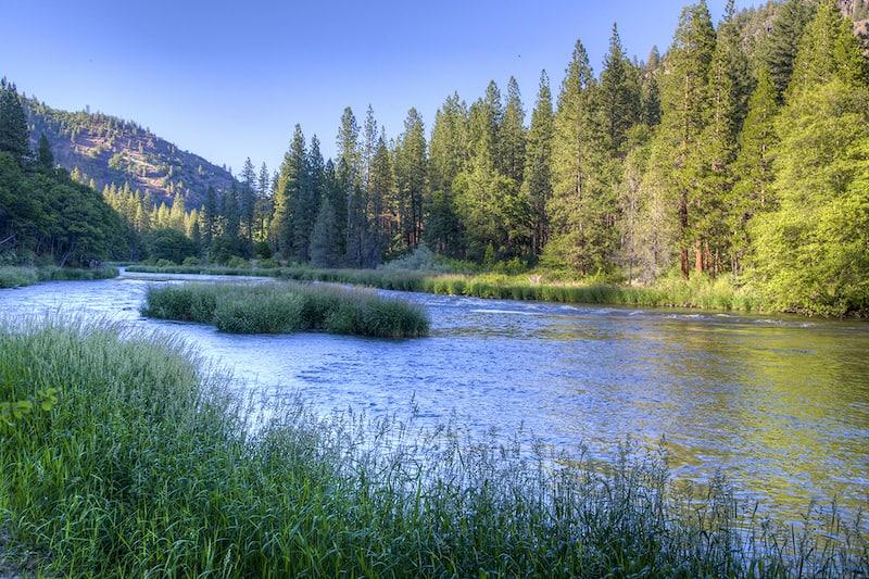 Image shows Klamath River, as an example of environmental personhood