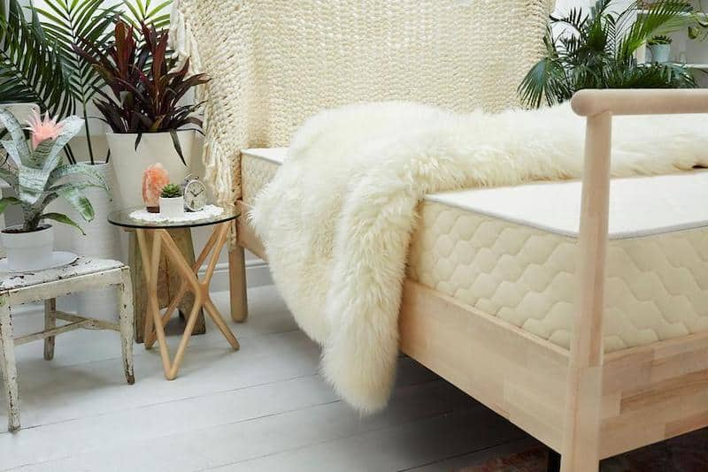 EcoCloud mattress in a bohemian bedroom