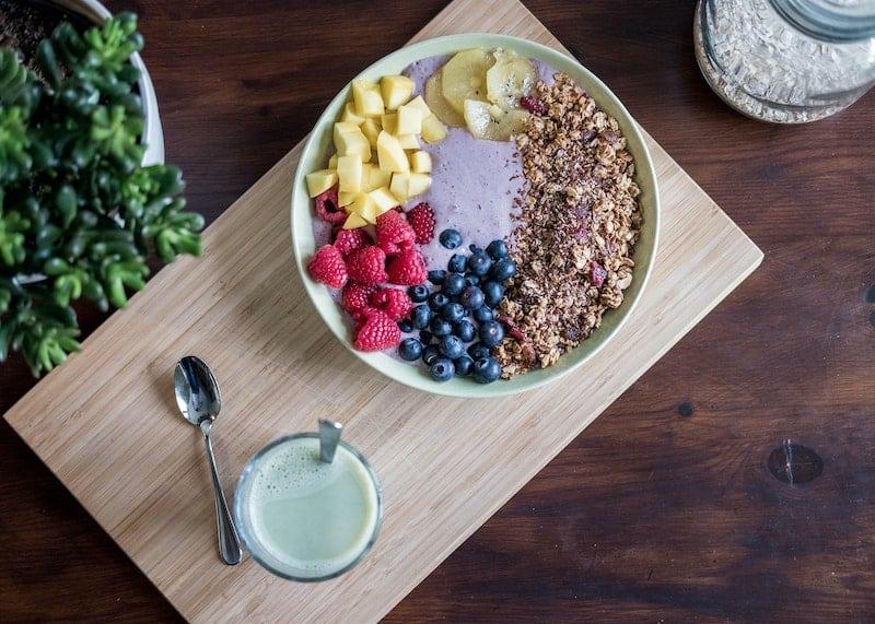 Breakfast - oatmeal and milk