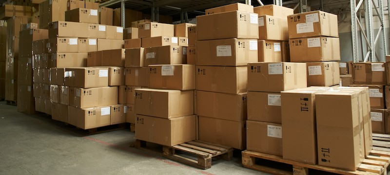 boxes in a warehouse - conscious consumer