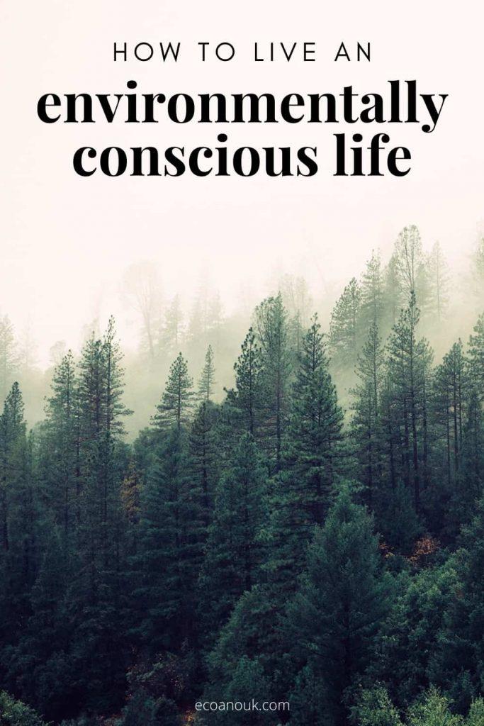 how to live an environmentally conscious life