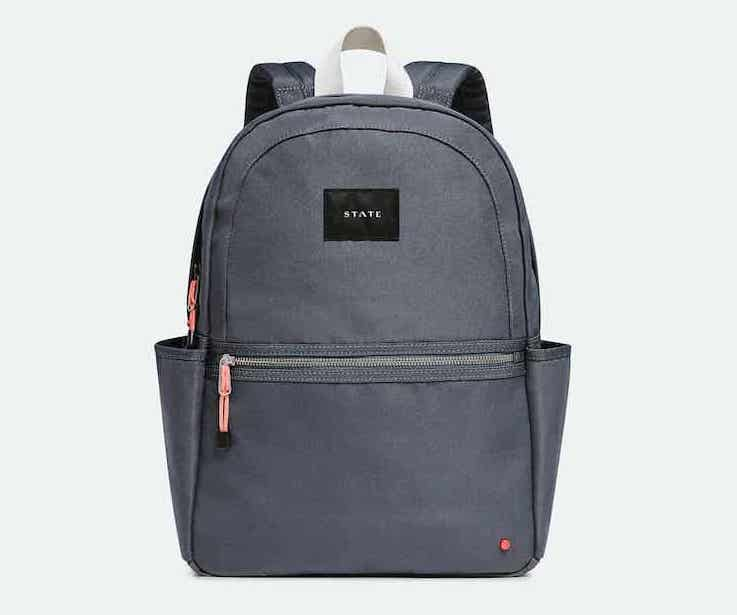 State backpack made from recycled polyester