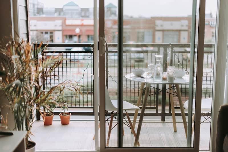 balcony space for a vegetable garden