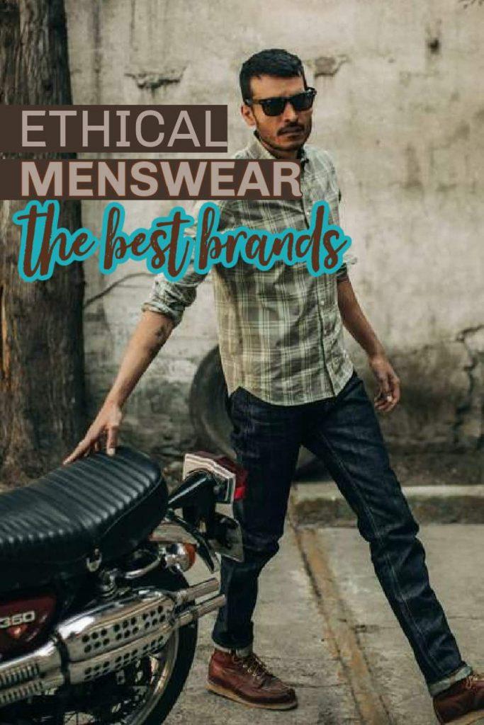 Man wearing ethical men's clothing