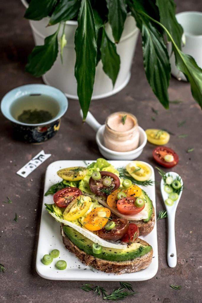 vegetable salad with home grown vegetables