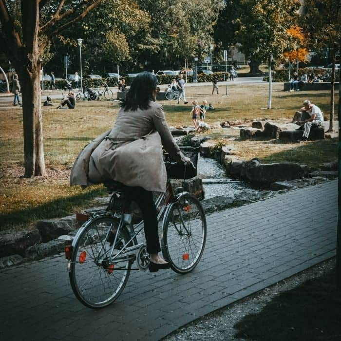 bicycling is a low waste mode of transportation!