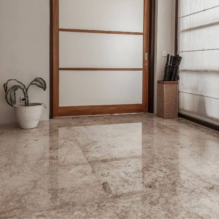 stone flooring in a Japanese home