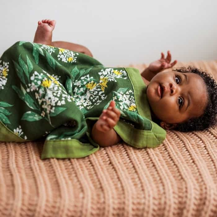 organic baby kimono