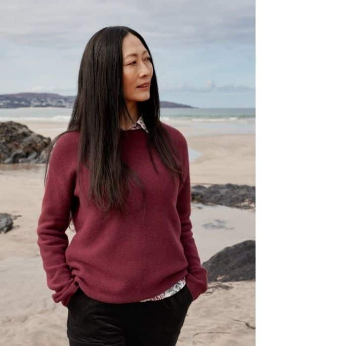 sustainable sweaters made with fair trade wool