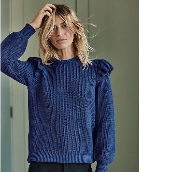 recycled materials sweater